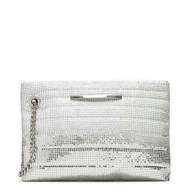 As New Mimco Mesh Clutch Bag