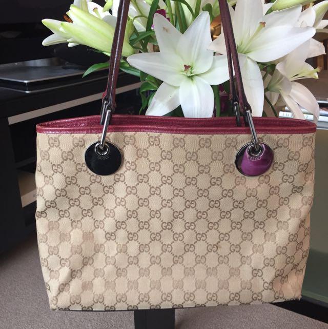 Authentic Gucci Medium Shopping Tote Bag