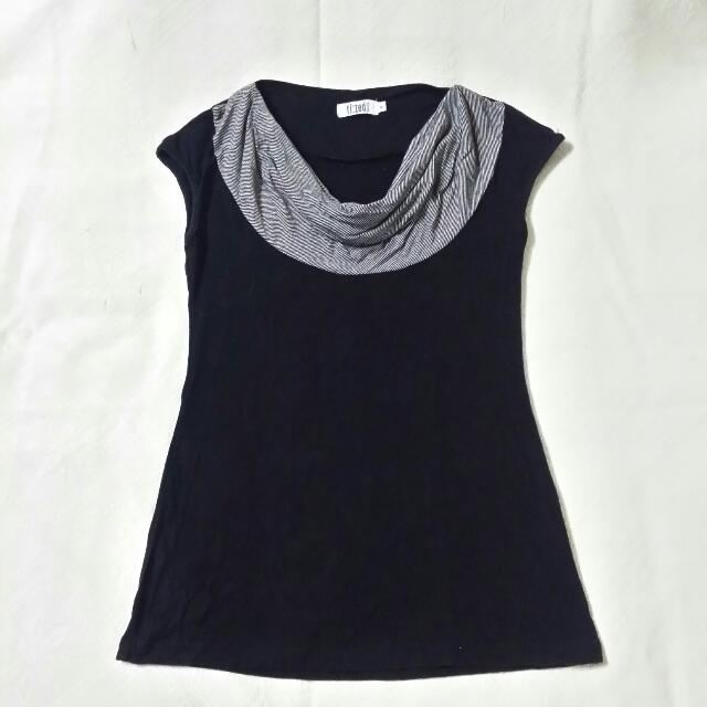 Black & Grey Top