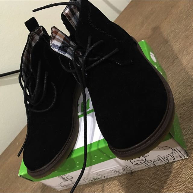 Boys Black Suede Boots