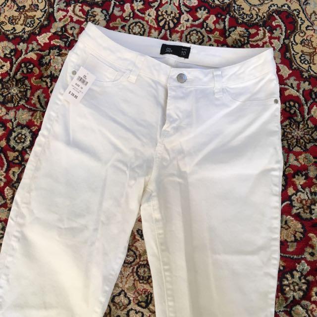 Brand New White Jay Jays Jeans