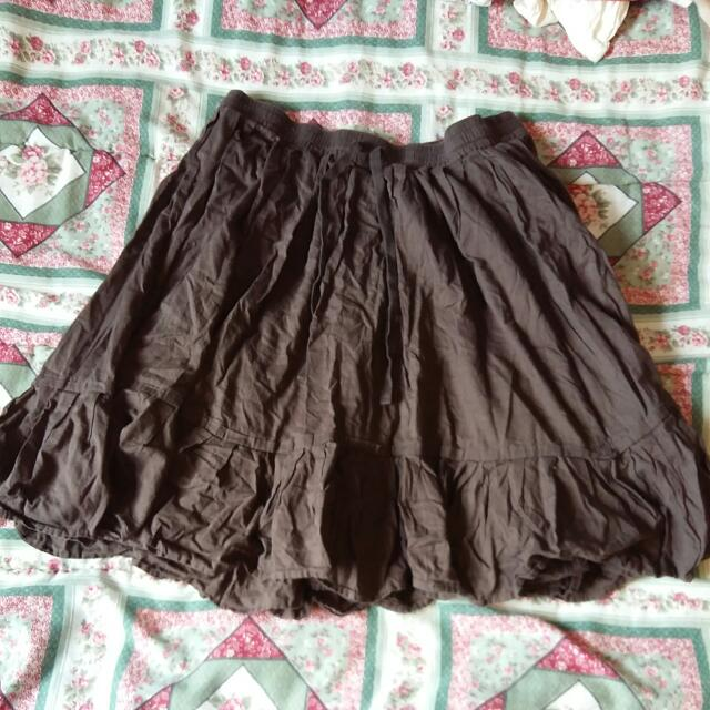 Brown Flowy Skirt From Old Navy