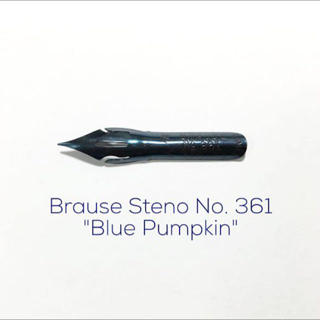 "Calligraphy Nib - Brause Steno No. 361 ""Blue Pumpkin"""