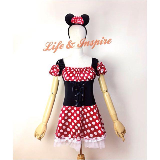 Cosplay米奇米妮造型可愛連身裙 變裝生日派對 迪士尼主題 角色扮演