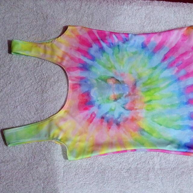 Dolls Kill Tie Dye Swimsuit/Bodysuit - Small - NWT