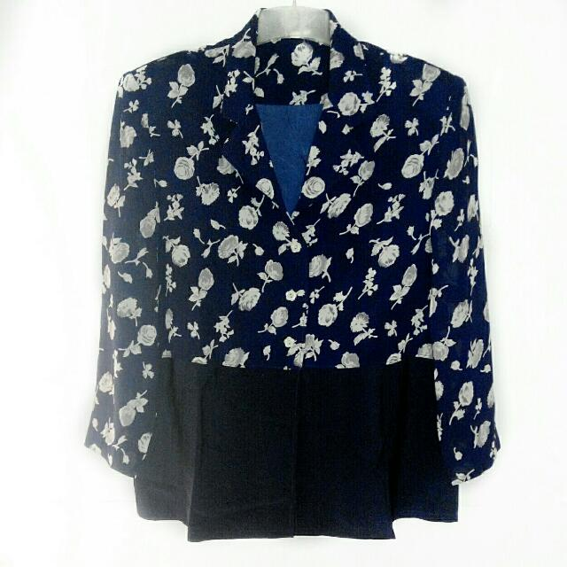 Floral Blue Blazer size 12