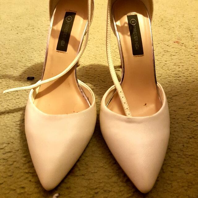 Forever New White Heels