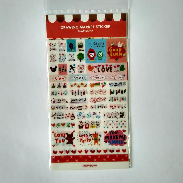 Korean  Drawing Sticker Pack