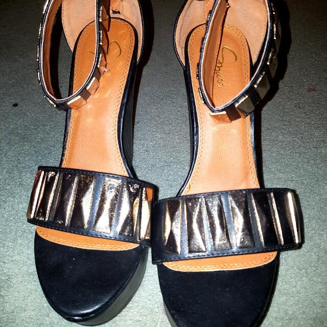Leather Heels Wedges