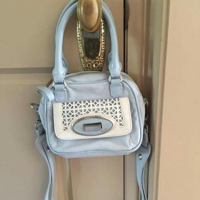 Mimco Blue Ratpack Small Bag