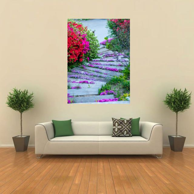 Canvas Print Nature Photography Large Wall Art Flower Photography Lustre Metallic Glossy Home Decoration Opening Sale 20 Off Furniture On Carousell