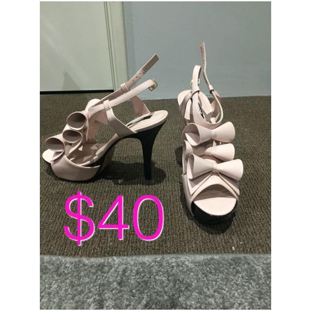 Pink Flower Heels