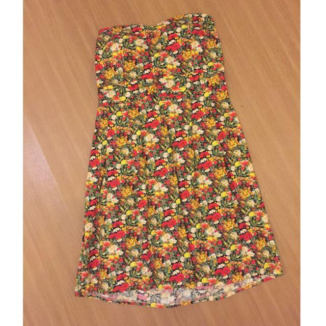 Preloved Flower Tube Mini Dress