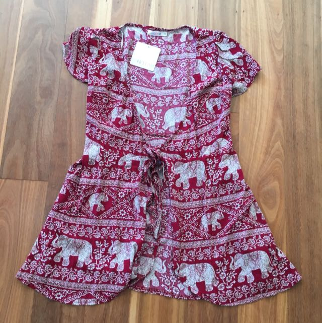 Red Wrap Dress Size 10