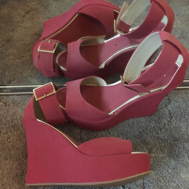 Betts Suede Pink Wedges