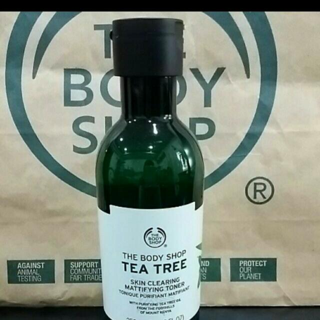 The body shop茶樹淨膚調理水(新包裝)