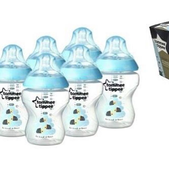 Tommee Tippee closer to nature blue bees 6pack