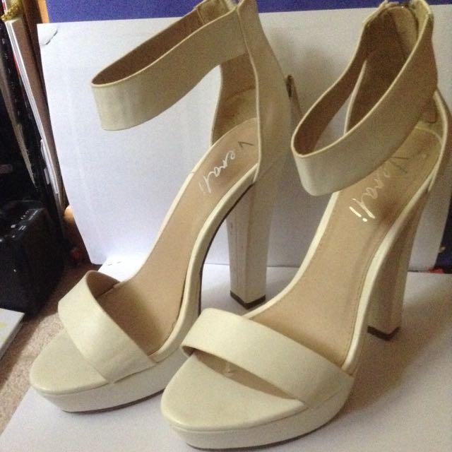 * ON HOLD * White Verali Heels