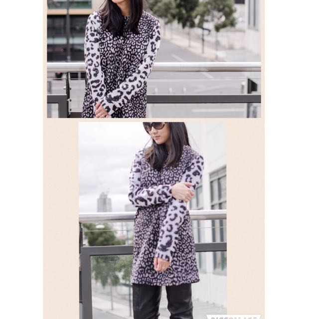 Women's 'May The Label' Winter Dress - Leopard Print