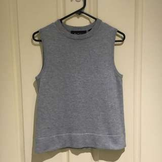 Cropped Wool Top Size 10