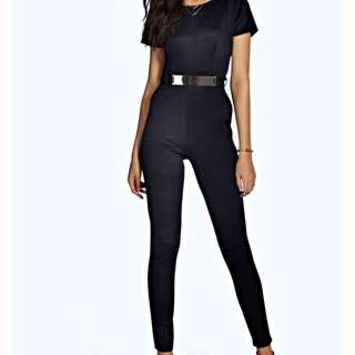 BOOHOO Belted and Fitted Jumpsuit