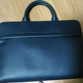 Authentic  Navy Trion briefcase