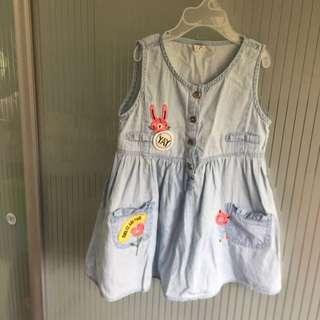Brand New Denim Sleeveless Dress