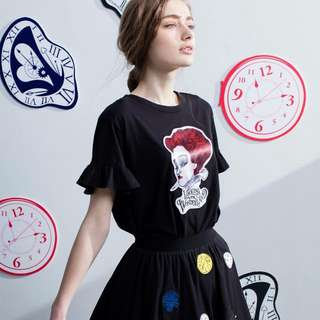 B+ab Alice愛麗絲夢遊仙境聯名款(黑紗裙)