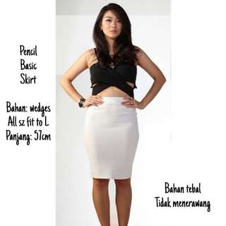 Pencil Basic Skirt / Rok Sepan
