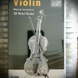 3d Metal Model-Violin