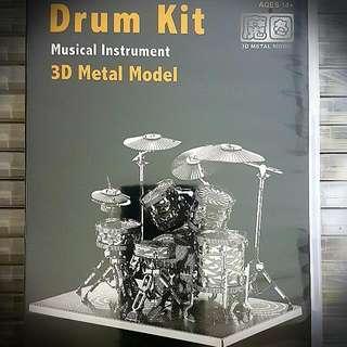 3d Metal Model- Drum Kit