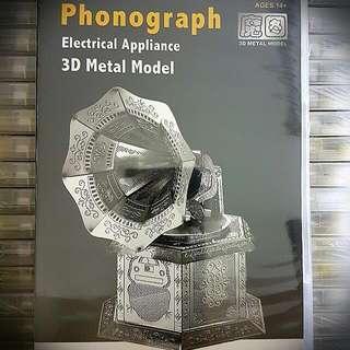 3d Metal Model- Phonograph
