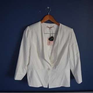White Review Blazer