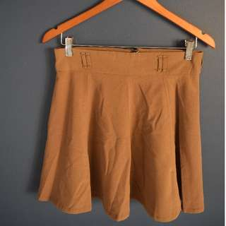 Camel High Waisted Skirt