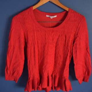 Red Review Knitted Jumper