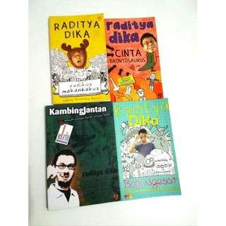 Novel Raditya Dika: Radikus Makankakus, Cinta Brontosaurus, Kambing Jantan, Babi Ngesot