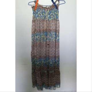 #兩百元雪紡 南洋風情 長連身裙