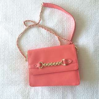 Forever New dust pink bag