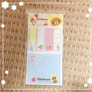 Brand New Rilakkuma Sticky Notes Pad