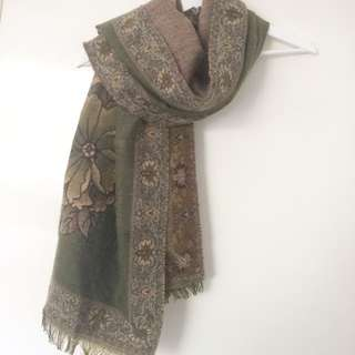 Big Reversible Mohair Scarf/shawl