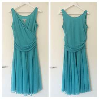 Size 10 Vintage Aqua Tulle Dress