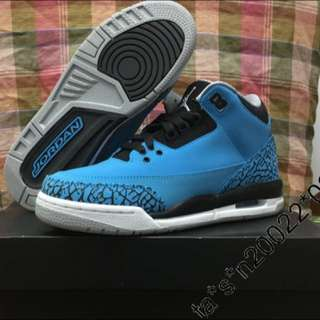 "英國行貨 女裝有單 US 5.5Y Nike Air Jordan III 3 Retro BG GS GG "" Powder Blue "" (398614-406)"