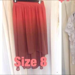 Gorgeous High Low  Ombré Skirt