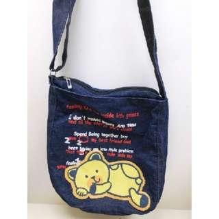 小熊牛仔斜揹袋