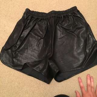 'ruby Sees All' Leather Shorts