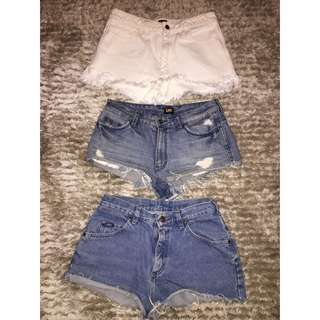 Assorted LEE Denim Shorts