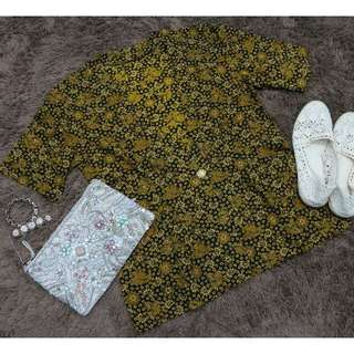 Flower Gold Outer Batik [Preloved Outer Batik]