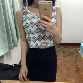 BN Tribal Print Crop Top