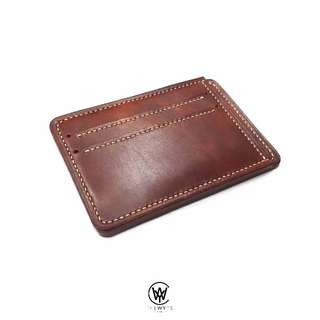 Handmade Genuine Full Grain Leather Minimalist Card Holder/Wallet | Handcrafted | Handstitched | D39