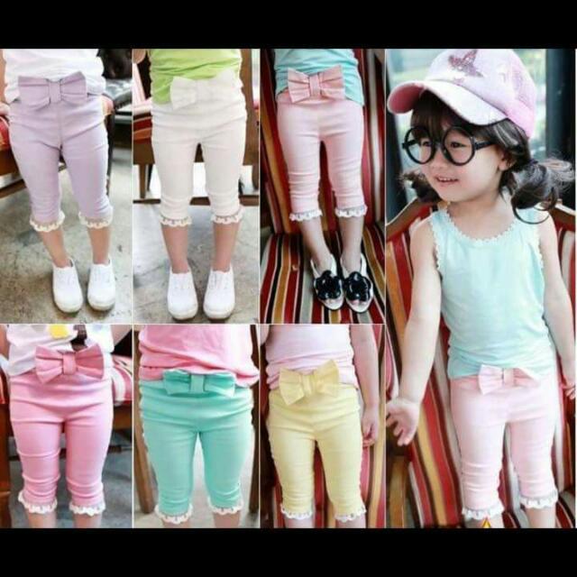 蝴蝶7分褲(粉,黃,玫紅,紫,綠)